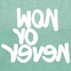 #now - Frauen T-Shirt mit gerollten Ärmeln