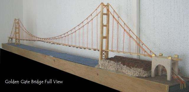 Golden Gate Bridge Miniature Model