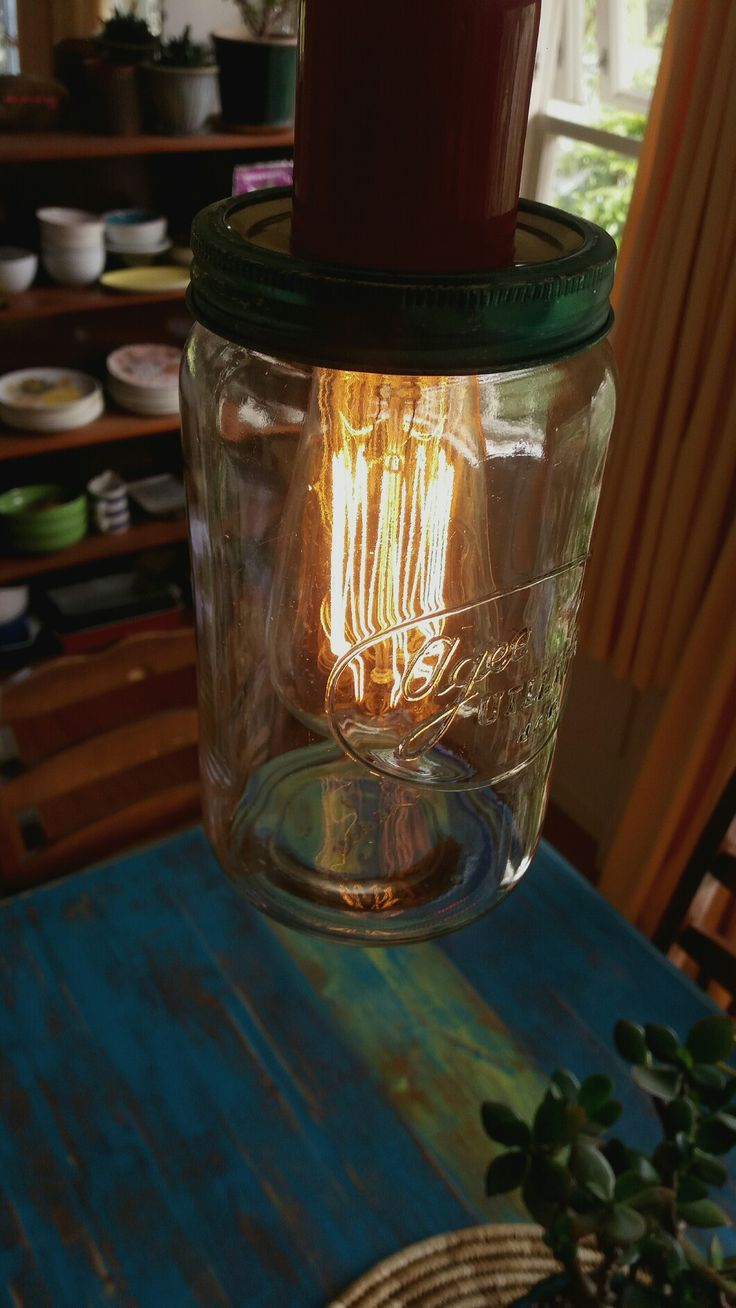 Agee jar light fixture. Nice over the dining table.