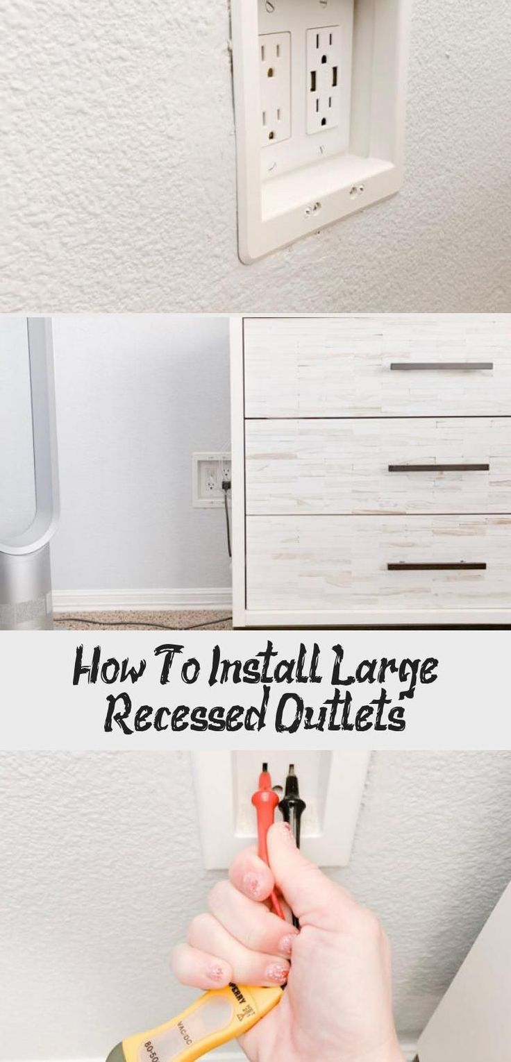 How To Install Large Recessed Outlets - Diy