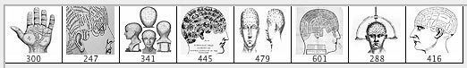 Nice Phrenology Brushes. A couple of phrenology diagrams and a palmistry chart. Brushes made in Photoshop CS from vintage etchings and engravings. Now we all are familiar with the standard conditions - please comment credit appropriately link back blah blah etc etc. And we also all know that this is like too much hassle and we don't do it. So - really - it would be so nice if you did all these things (and would furthermore demonstrate that your mother brought you up right) but actually you…