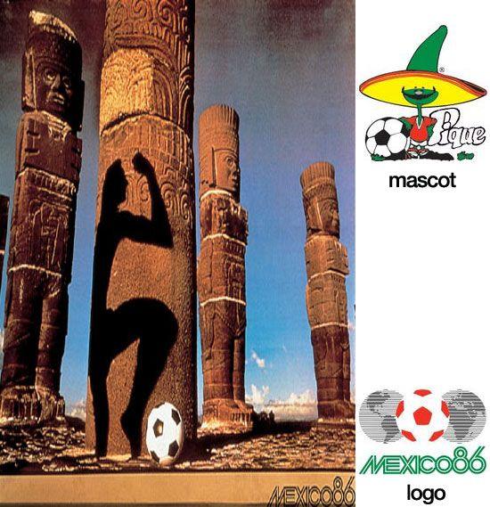 "Cartel oficial de la Copa del Mundo Méjico 1986 realizado por la fotógrafa norteamericana Anna-Lou ""Annie"" Leibovitz / Official poster of the FIFA World Cup Mexico 1986 designed by the american photographer Anna-Lou ""Annie"" Leibovitz"