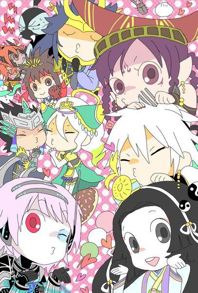 Da Ji Nuwa Fu Xi Kaguya Nezha Himiko Yoshitsune Minamoto Shuten Doji Warriors Orochi 3 senhiime.tumblr.com