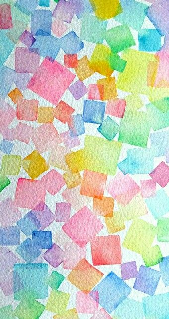 Watercolour inspiration, love the idea of using geometric shapes to create a pattern. It would work well combined with hand lettering over the top <3