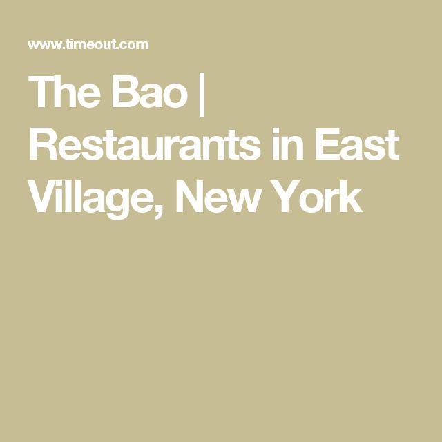 The Bao   Restaurants in East Village, New York