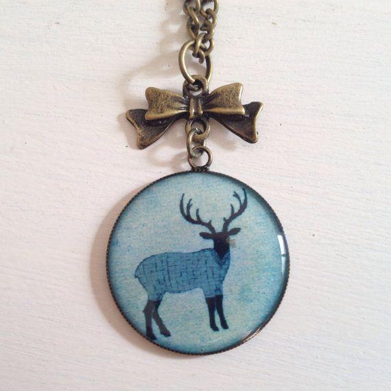 Deer necklace on Etsy, $20.00