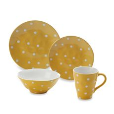 Sprinkle Collection Yellow Dinnerware - Bed Bath & Beyond