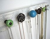 already planning to do this. but could make others for bathroom to hang towels or entry way for hats and scarves. sell some maybe? source knobs from thrift stores.