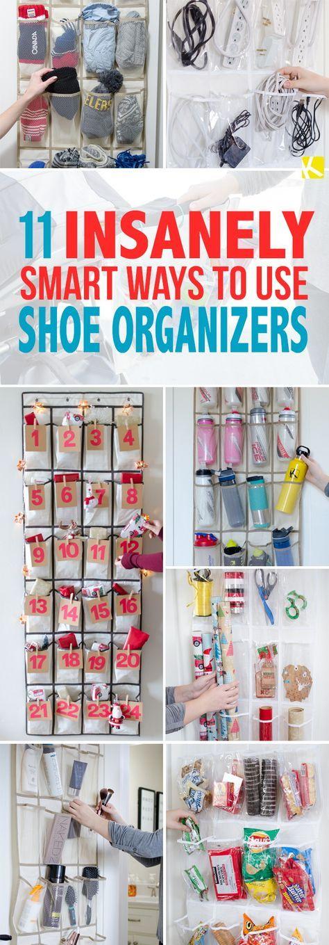 11 Insanely Smart Ways to Use a Shoe Organizer