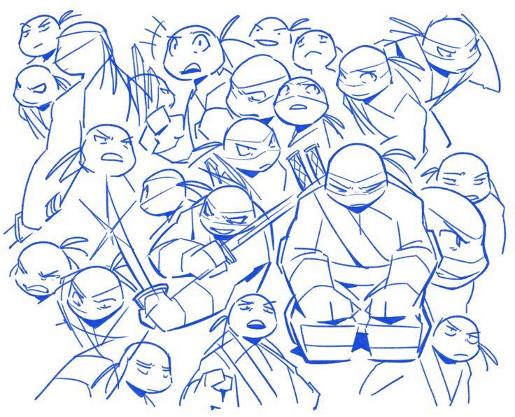 OP: (૭ ◉༬◉)૭⁾⁾⁾⁾   work doodles!   TMNT 2012