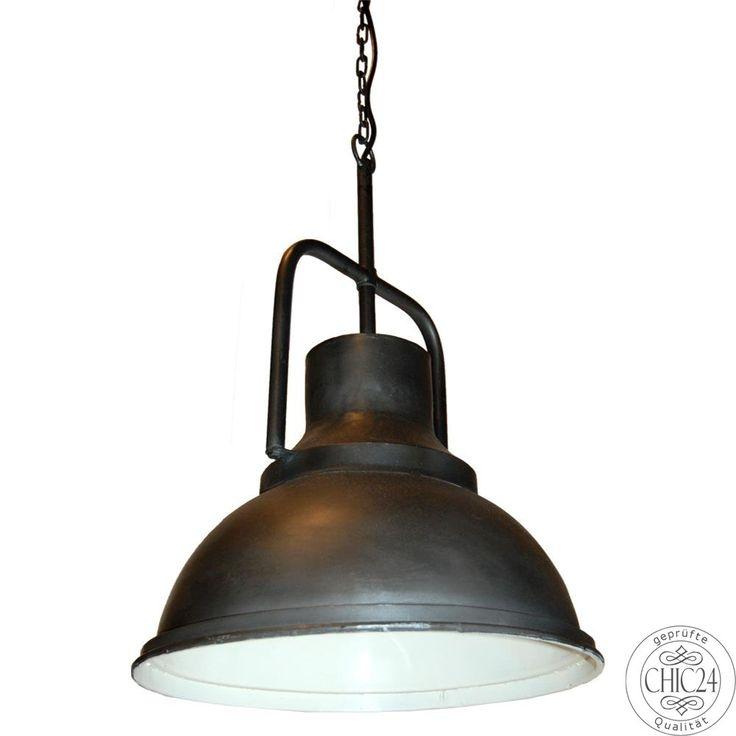 Superb H ngelampe im Industriestil schwarz matt chic Vintage M bel und Industriedesign Lampen Online kaufen