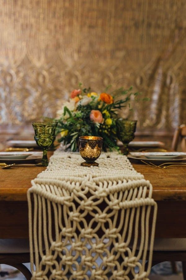 Who knew crochet table runners can be so quiant and beautiful? #ConciergeTip #WeddingsbyFunjet