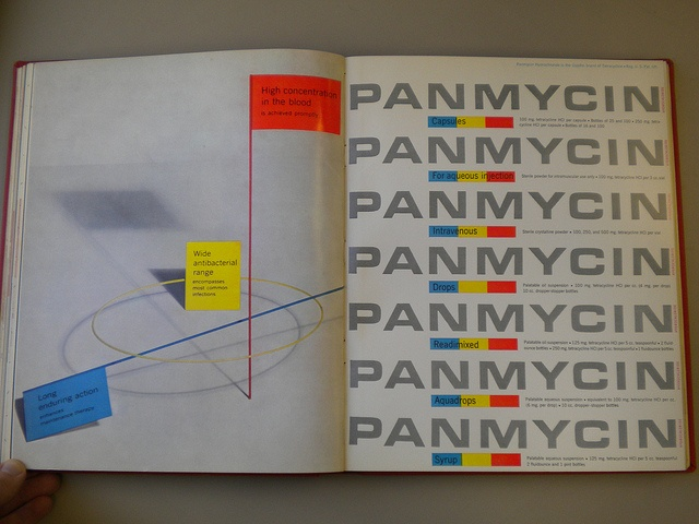 Panmycin Ad by Will Burtin for Scope Mag