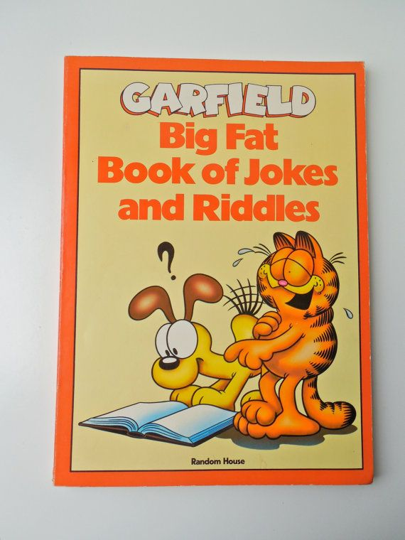 Garfield Big Fat Book of Jokes and Riddles by WACT on Etsy, $9.00