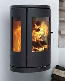 Morso 7470 - Wall mounted modern wood burning stove