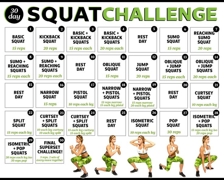 Build an awesome booty with our 30 day squat challenge! For one month, you'll complete different variations of squats that tone your glutes and target all the muscles in your butt. At the end of the squat challenge, you'll see a stronger, lifted and toned booty.