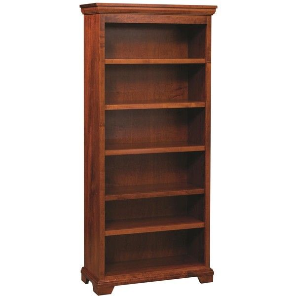 Amish Home Office Potomac Bookshelf ($684) ❤ liked on Polyvore featuring home, furniture, storage & shelves, bookcases, storage furniture, storage shelves, amish furniture, brown bookshelf and book shelves