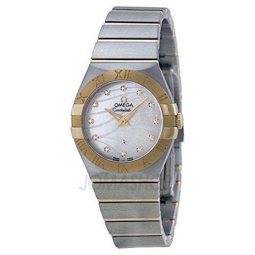 Omega Women's 'Constellation' Swiss Quartz Stainless Steel Dress Watch, Color:Tw...