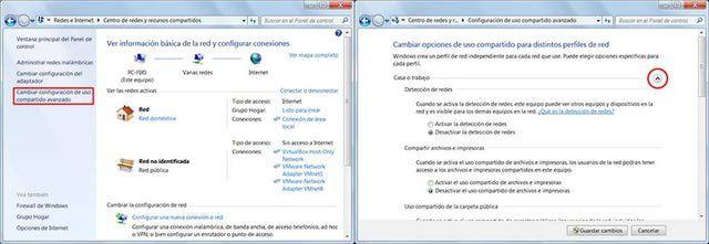 Compartir carpetas y archivos en red con Windows 7: Para no compartir carpetas