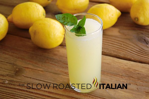 Perfectly Frozen Lemonade {Optional - Basil} | The Slow Roasted Italian