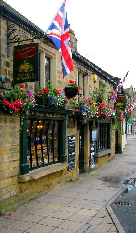 Old Original Bakewell Pudding shop, Bakewell, England, UK - the best Bakewell tarts you'll ever taste!
