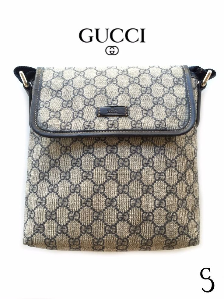 Authentic Gucci Men Monogram Messenger Bag #Gucci #MessengerShoulderBag