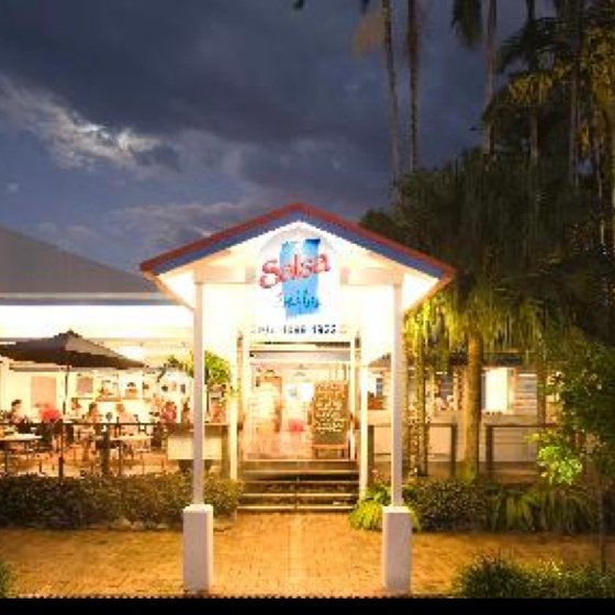 Salsa Port Douglas - not exactly in a vineyard, or even near one, but their food is beautiful and it's a fun place!