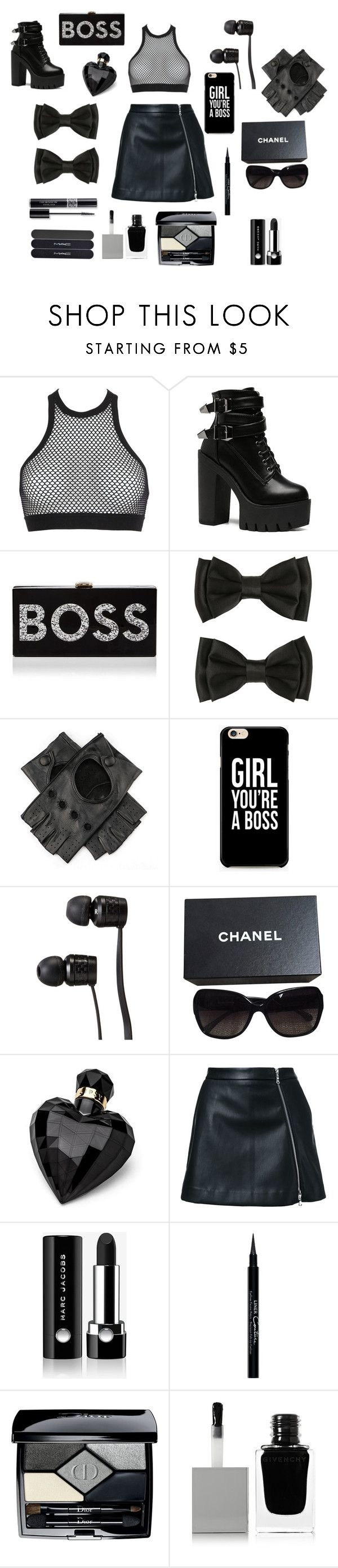 Vintage  Black is the Boss by carly liked on Polyvore featuring Dsquared Milly