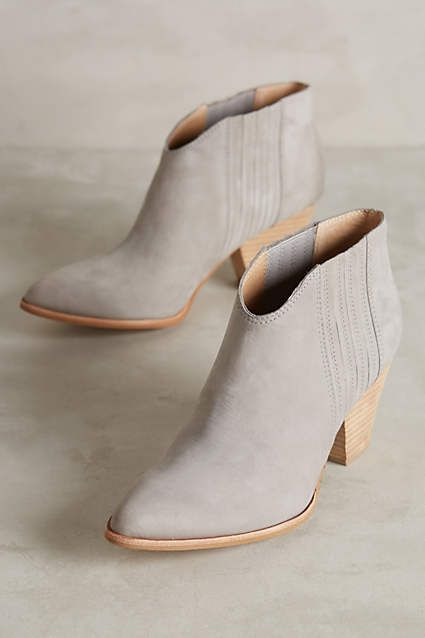 Gray booties FTW. Splendid Addie Ankle Boots - anthropologie.com