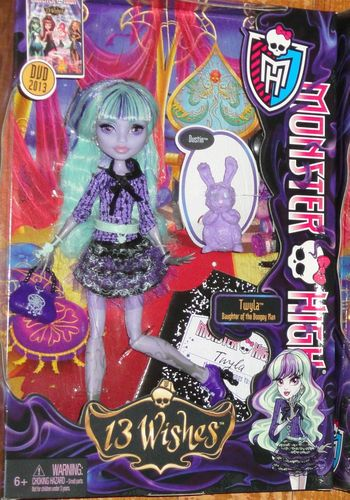 Monster High Doll Twyla 13 Wishes New Release in Box Daughter of The Boogey Man | eBay