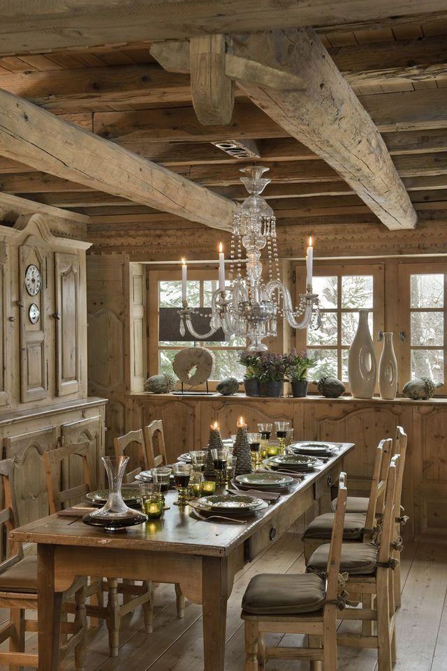 DINING ROOM – Location prestige Chalet MEGEVE Les Chalets des Fermes de Marie