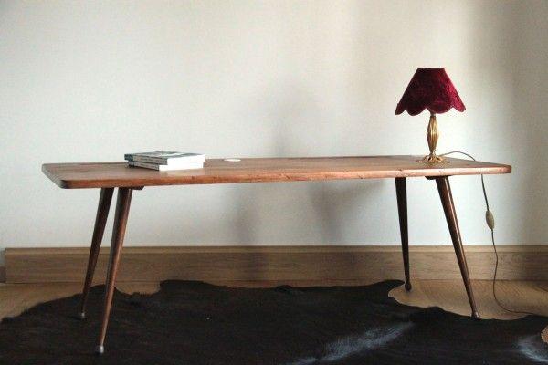 table basse salon vintage. Black Bedroom Furniture Sets. Home Design Ideas