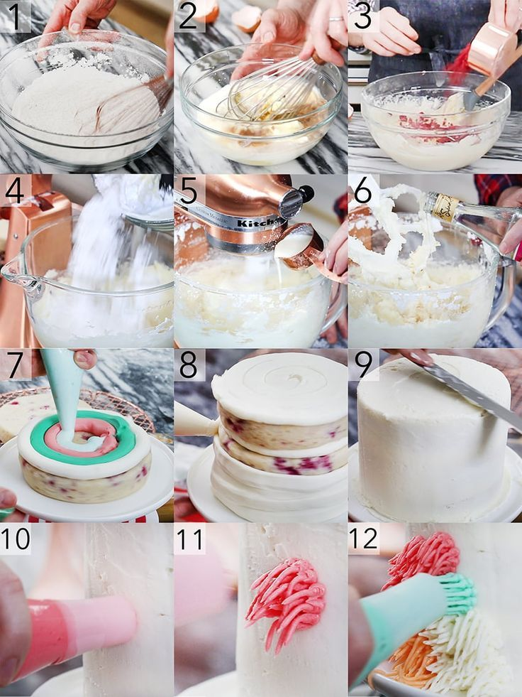How To Make Colorful Shag Cake Step By Step Instructions Of