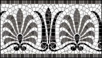 Mosaic Border No 7 stencils, stensils and stencles