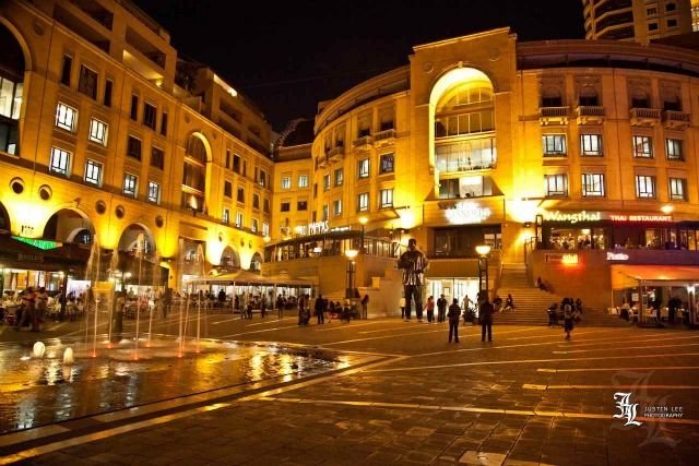 Nelson Mandela Square, Johannesburg, South Africa by Justin Lee