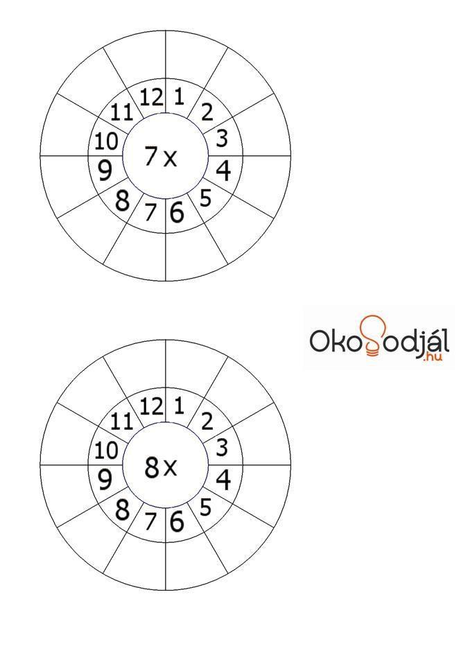 Multiplication 7 and 8    Szorzótábla 7-8