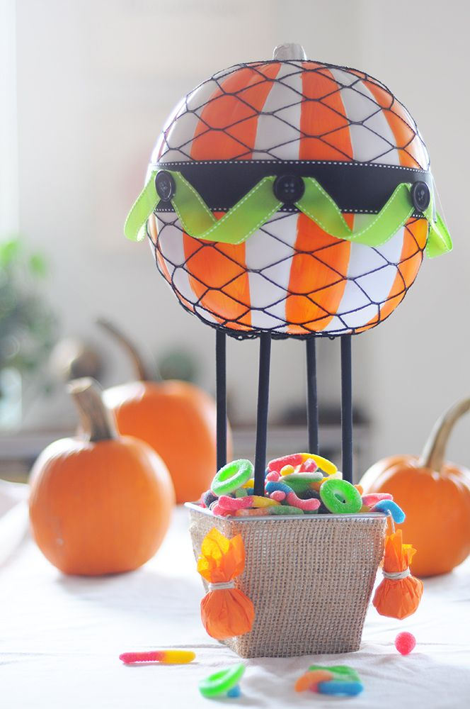 Hot Air Balloon Pumpkin Enter Your Craft Pumpkin At