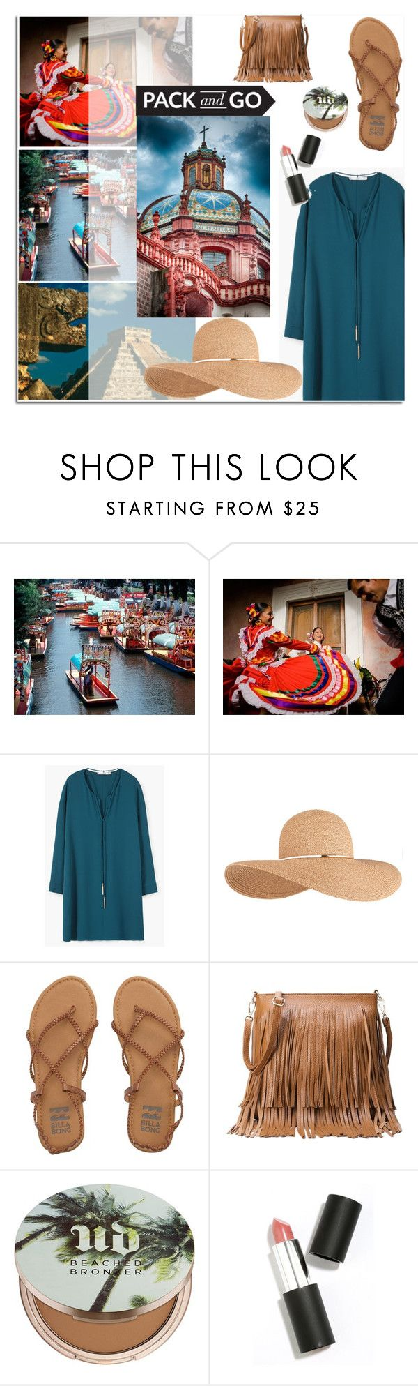"""mexico"" by sofia050400 ❤ liked on Polyvore featuring MANGO, Eugenia Kim, Billabong, Urban Decay and Sigma Beauty"