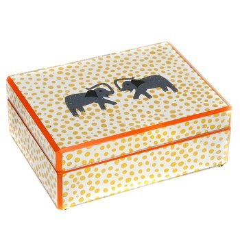 Elephant Glass Box. Whether you use it as a non-traditional jewelry box or a high-end desk accessory, this box will dress up any setting. $165.00
