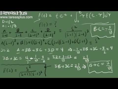 Ecuación Integral y transformada de laplace parte 2