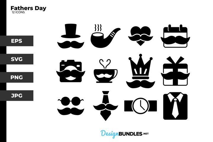 Fathers Day Glyph Icons Glyph Icon Icon Logo Background