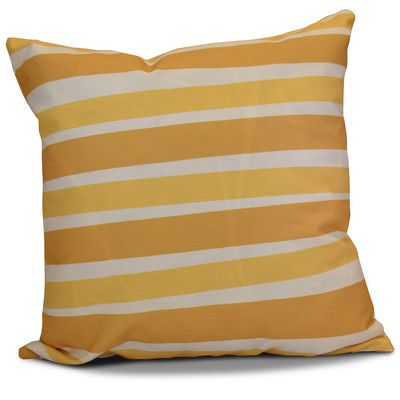 "The Holiday Aisle Hanukkah 2016 Decorative Holiday Striped Outdoor Throw Pillow Size: 16"" H x 16"" W x 2"" D, Color: Gold"