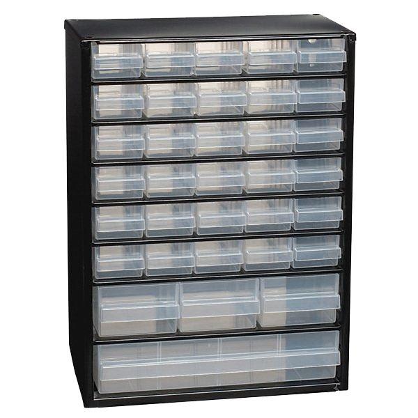 En opbevarings kasse med små skuffer til perle, gerne lidt mindre model. Se evt Harald Nyborg eller lignende butikker. https://www.silvan.dk/vaerktoej-maskiner-isenkram/vaerktoejsopbevaring/vaerktoejskasser/toolmate-flex-skuffer-10?id=2642-9673854&type=variant