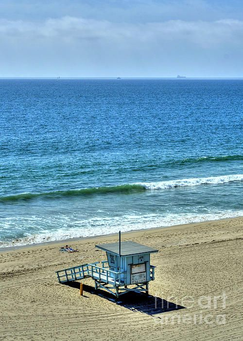 Beach Life In Torrance Beach California by K D Graves #TorranceBeachArt #TorranceBeachPrint #TorranceBeachLifeguard