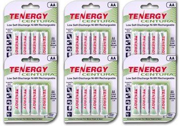 Tenergy Centura AA Low Self-Discharge (LSD) NiMH Rechargeable Batteries, 6 Card 24xAA by Tenergy. $36.95. Features and Benefits   * High quality AA Size 2000mAh rechargeable Nickel Metal Hydride (Ni-MH) battery, top of line.  * combines all the features of the alkaline battery (Ready to Use) with the benefits of rechargeable battery  * Very slow self discharge maintains 85% residual capacity after 1 year of storage and 70% residual capacity after 2 years of storag...