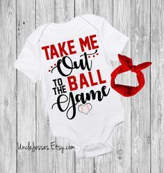Take Me Out To The Ball Game - Baby Baseball One Piece - Baseball Lover - Little Slugger - You Know I'm All About That Base Cute Funny Baby Onesie By UncleJesses Clothing Unisex Kids' Clothing Bodysuits crawl walk baseball play ball 1st baseball season ball game go angels new york yankees young yankee fan red sox baby cubs giants mets cardinals go dodgers no crying in have you seen my