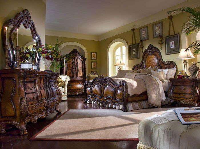 Aico Furniture Chateau Beauvais King Panel Bed By Michael Amini. Luxury  Bedroom Set By Michael Amini