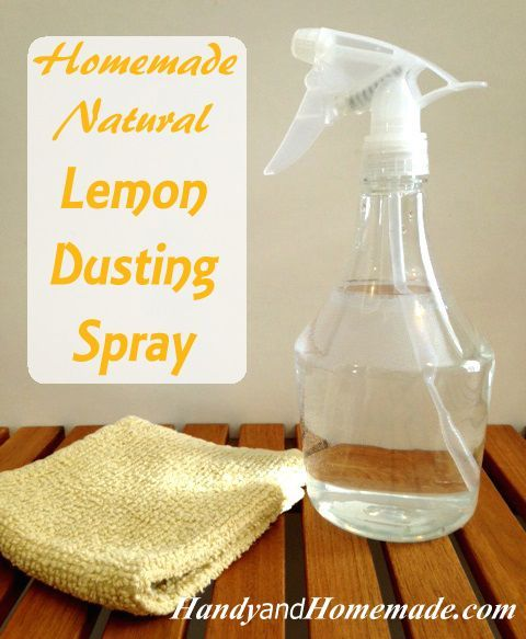 Diy Dusting Spray And Furniture Polish With Images: DIY Homemade Natural Lemon Dusting Polish Spray