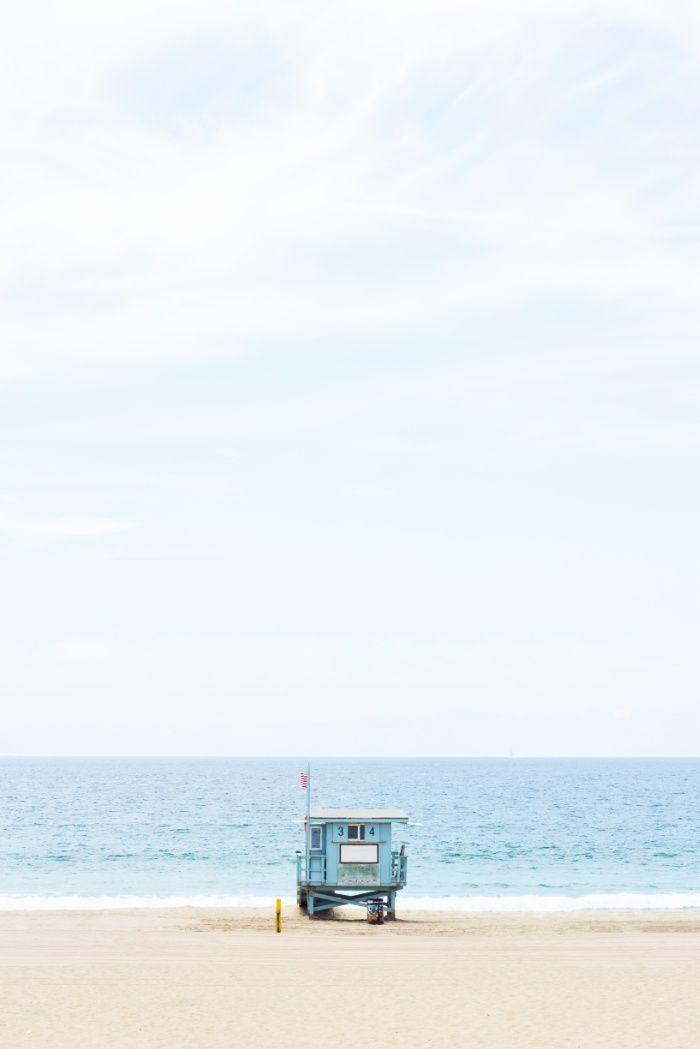 Manhattan Beach Lifeguard Art Print by Lovely Indeed   Society6