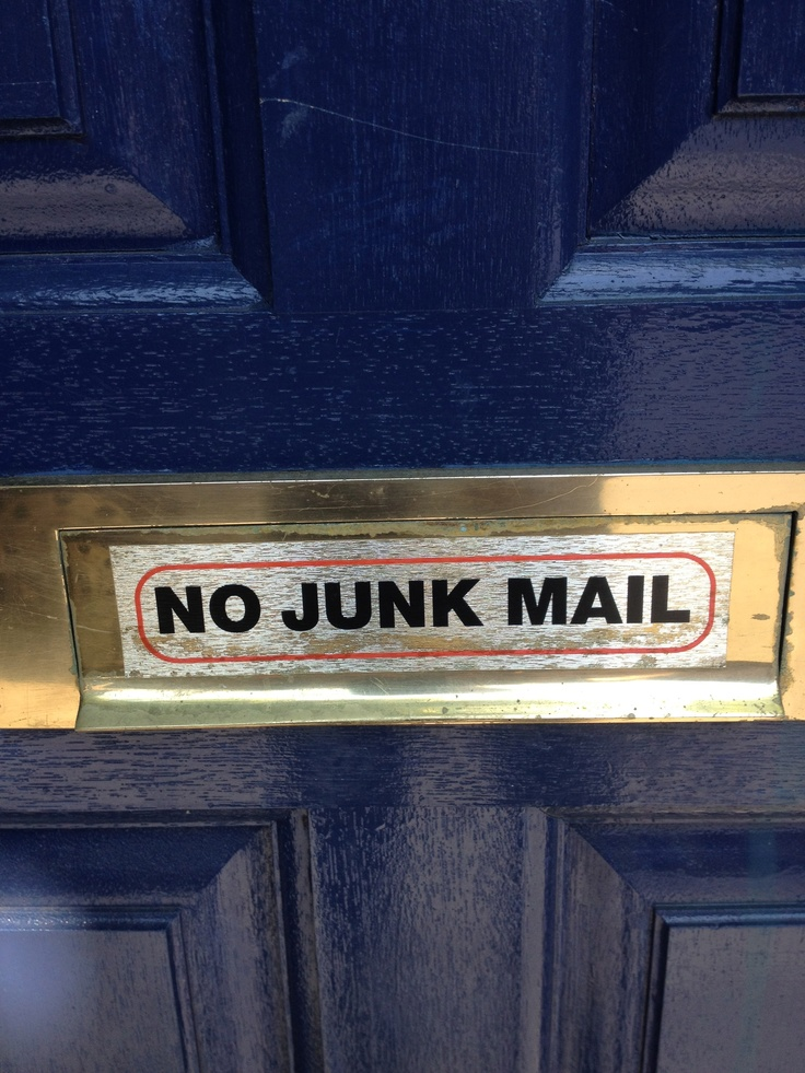 17 Best Images About No Junk Mail Signs Amp Stickers On